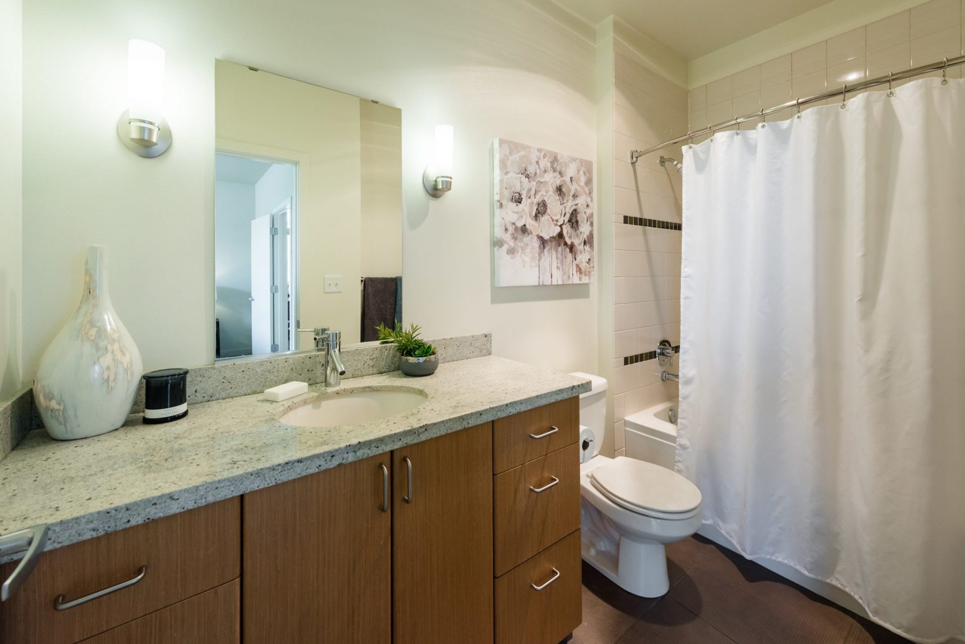 Spacious Bathroom Layouts At Thornton Place Apartments In Seattle, WA