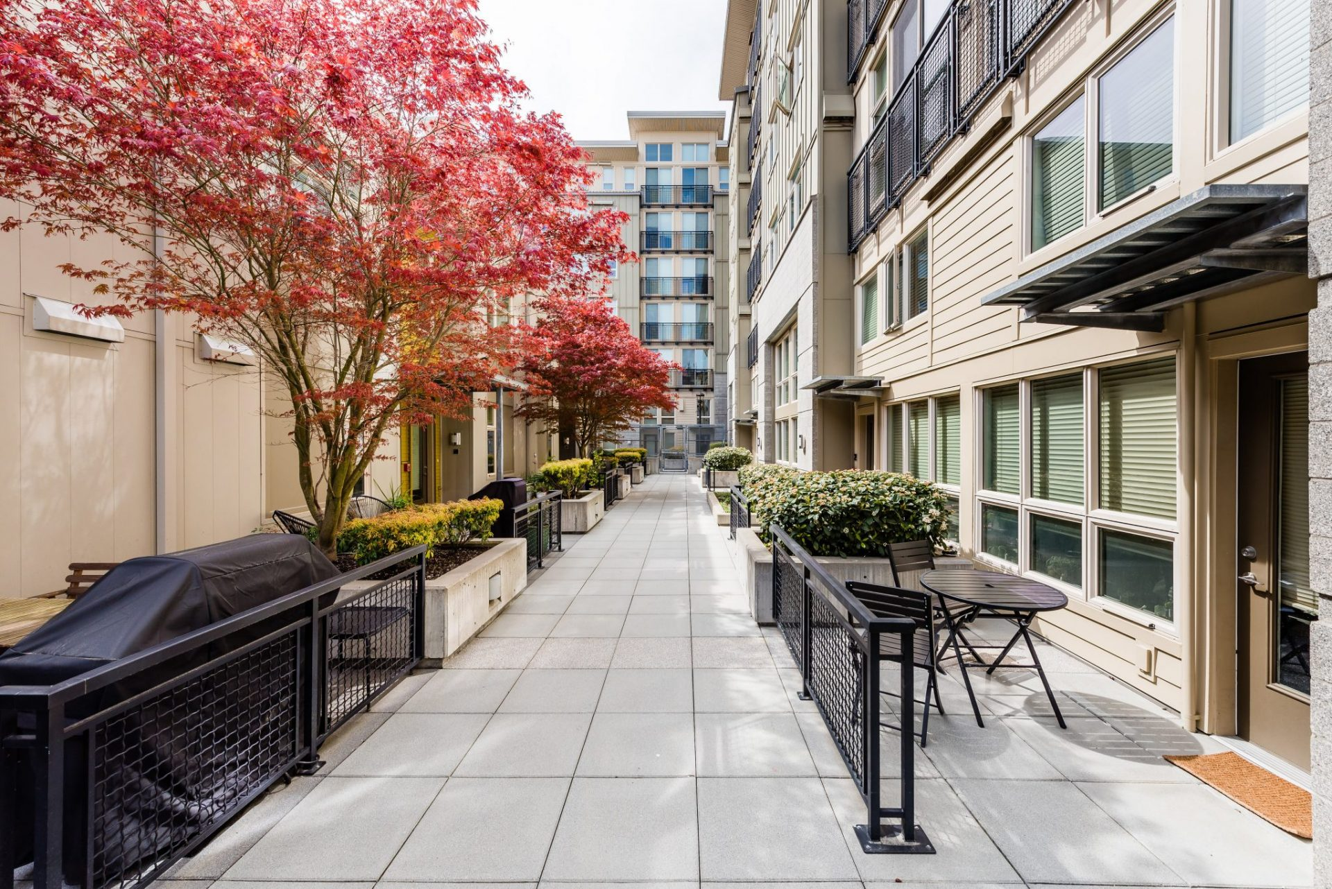 Private Apartment Patios At Thornton Place Apartments In Seattle, WA